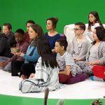 Maïté dans l'émission «Les Matins Pyjamas»