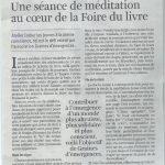 Atelier Pleine conscience à la Foire du Livre de Bruxelles